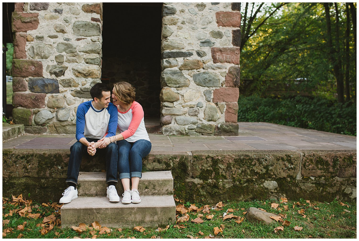 billie and mike engaged saddle river county park at