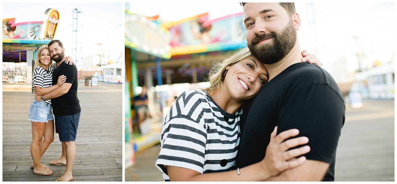 seaside engagement photography seaside engagement photos seaside boardwalk seaside engagement pics